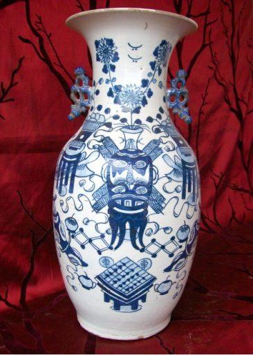 No 42 – Chinese Porcelain Vase with Taoic Masks