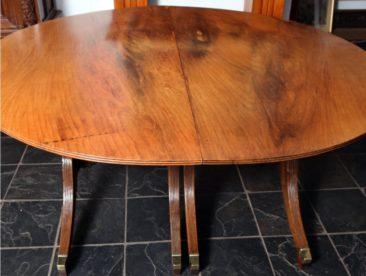 No 16 – British Colonial Regency Furniture, Burmese Rosewood and Teak Dining Table, Circa 1820