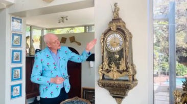 Antique French Console Clock, Louis XIV Period – Video