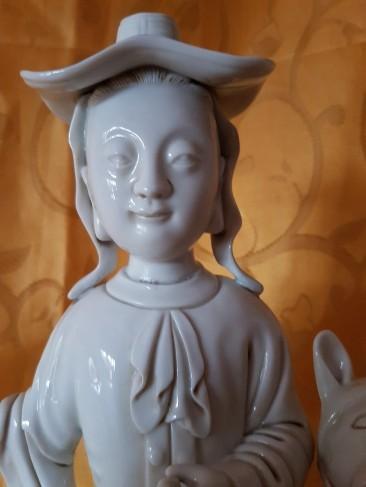 No 217  Blanc de Chine Figurine or Dehua Figurine Dutch Man – Detail