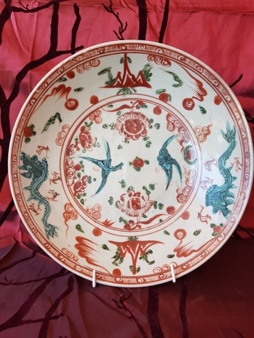 No 201 Chinese Polychrome Swatow or Zhangzhou Charger, 1st Half 17th Century