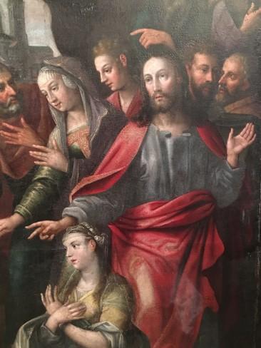 Resurrection of Lazarus Painting – Detail 1