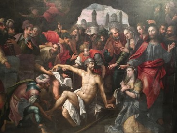 The Resurrection of Lazarus Painting, Antwerp School, Circa 1600