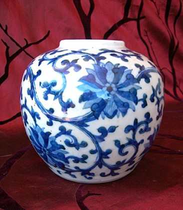 No 126 – Chinese Porcelain Ginger Jar, Late Qing Dynasty, Marked