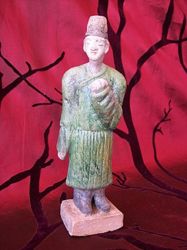 No 136 – Chinese Porcelain Statue, Tang Dynasty Philosopher