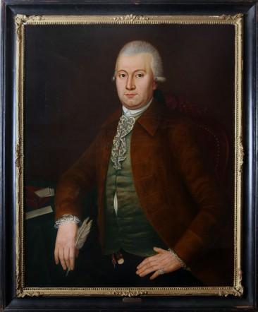 No 04 – Dutch School Painting Oil on Canvas, Portrait Lambertus Sijthoff, Circa 1785
