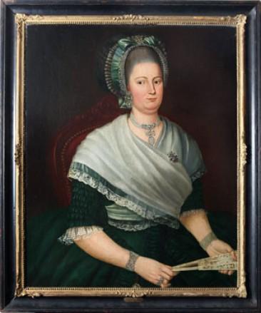 No 06 – Dutch School Painting Oil on Canvas, Portrait Christine Voet, Circa 1785