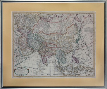 No 14 – Antique Map of Asia Edited by Covens and Mortier, 18th Century